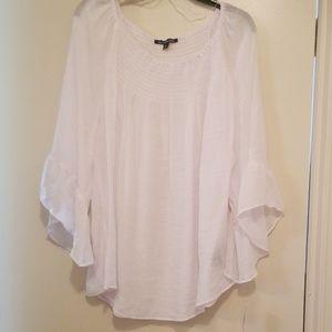 NWT white gauze bell sleeve top/blouse BOHO